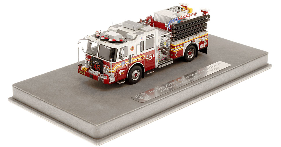 FDNY Engine 45 includes a fully custom display case.