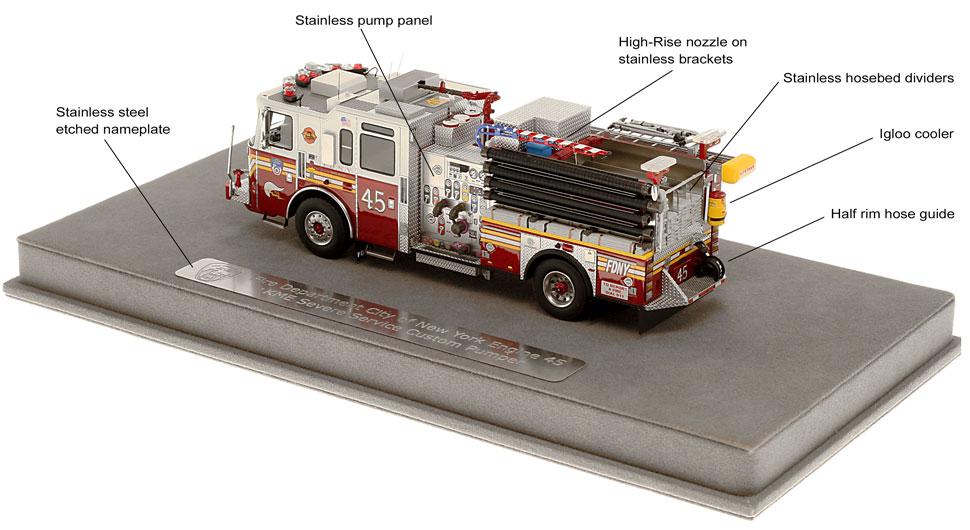 FDNY KME E45 features many custom details
