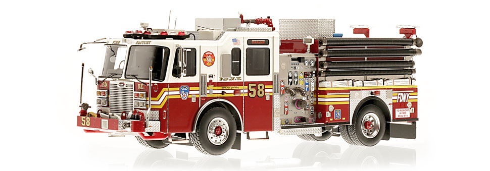 The first museum grade replica of FDNY's KME Engine 58.