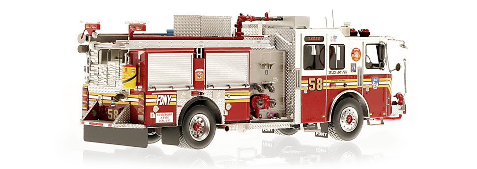 FDNY Engine 58 is hand-crafted using over 475 parts.
