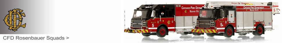 Order your Chicago Rosenbauer Squad scale models today!