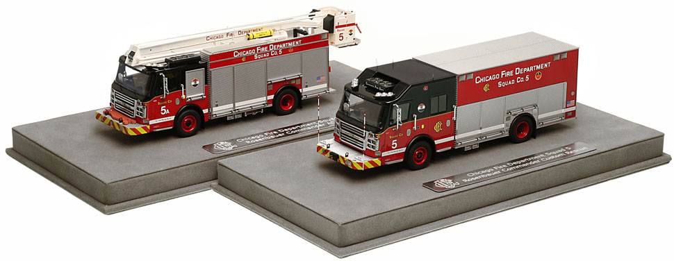 CFD Squad 5 and 5A include a fully custom display case.