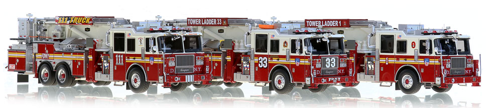 FDNY Tower Ladders 1, 33 anvd 111...for the elite collector