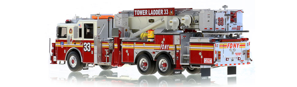 FDNY Tower Ladder 33 features over 785 hand-crafted parts.