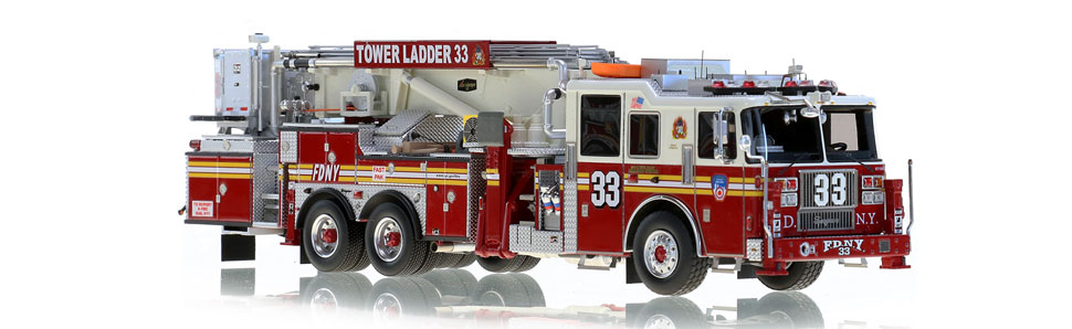 Museum grade FDNY Tower Ladder 33