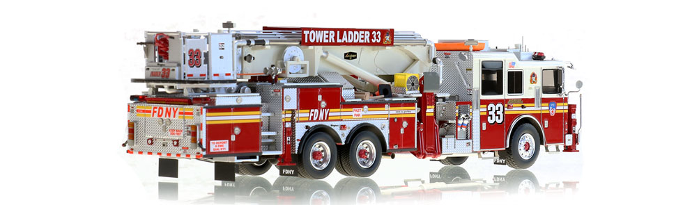 Production of FDNY Tower Ladder 33 is limited to 125 units.
