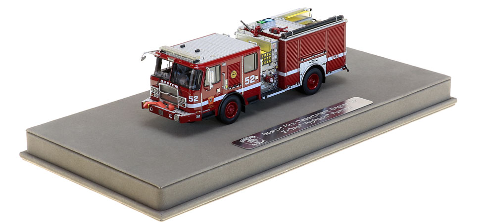 Boston E52 includes a fully custom display case.