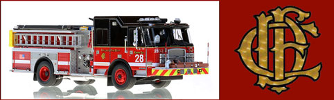 Shop scale model fire trucks from Chicago