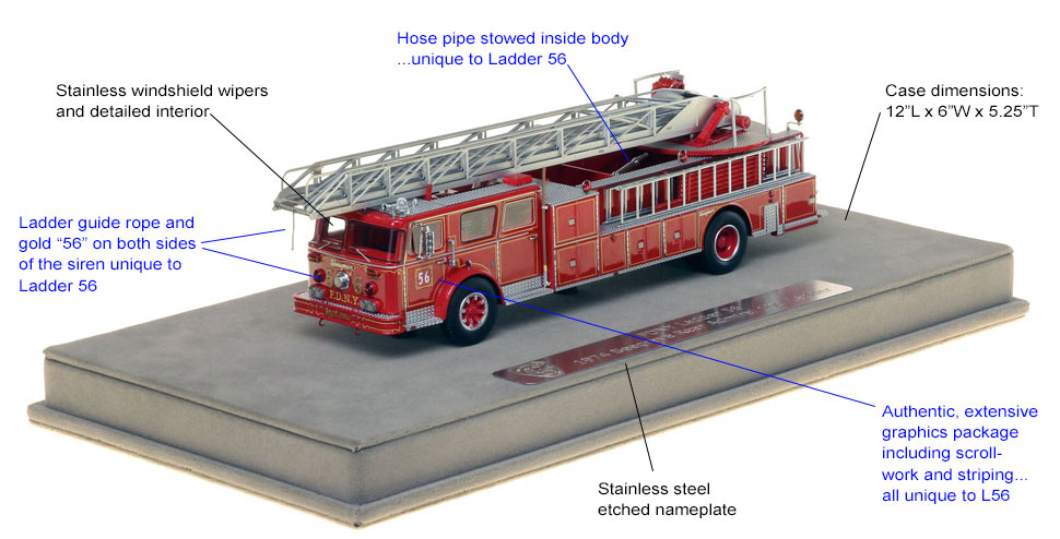 Specs and features of FDNY Ladder 56