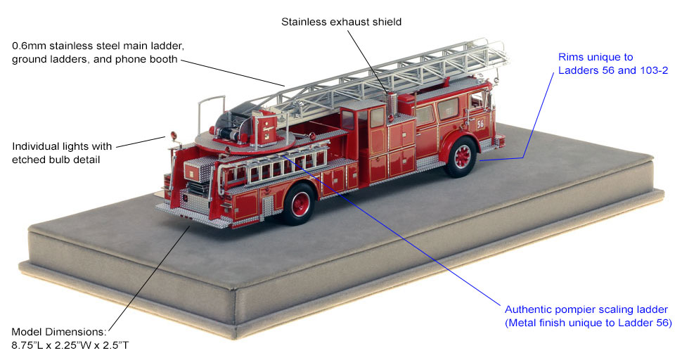 Seagrave 100' Ladder is authentic and precise