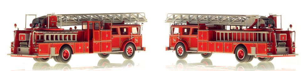 1:50 scale model of Ladder 56 from the Bronx