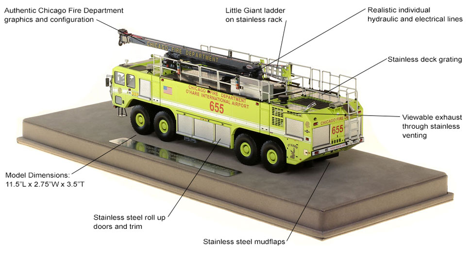 Specs and features of Chicago O'Hare ARFF 655