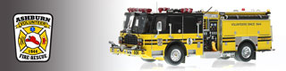Ashburn Volunteer Fire Rescue scale model fire trucks