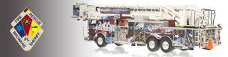 Broward County scale model fire trucks