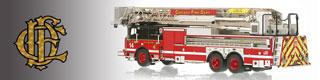 Chicago Fire Department scale model fire trucks