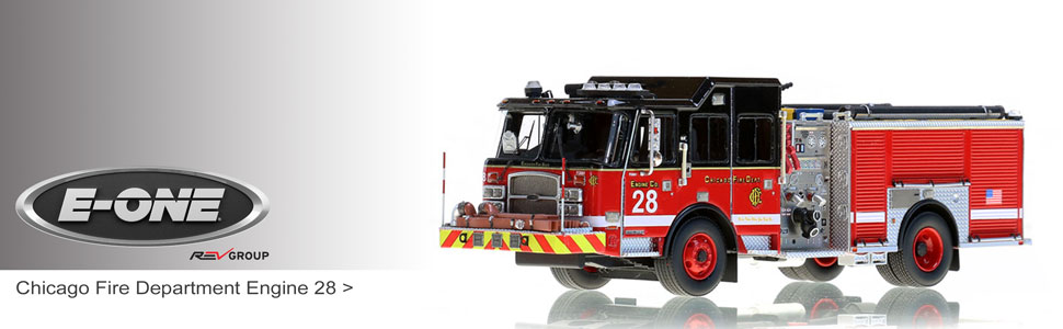 E-One scale model fire trucks