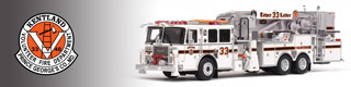 Kentland Volunteer Fire Department scale model fire trucks.