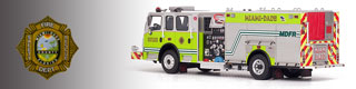 Miami-Dade Fire Department scale model fire trucks