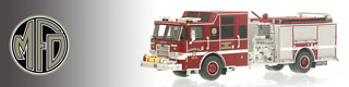 Milwaukee Fire Department scale model fire trucks