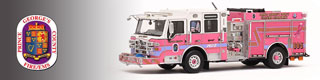 PGFD scale model fire trucks