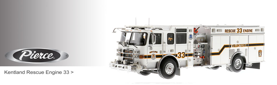 Fire Replicas is your source for Pierce fire truck scale models