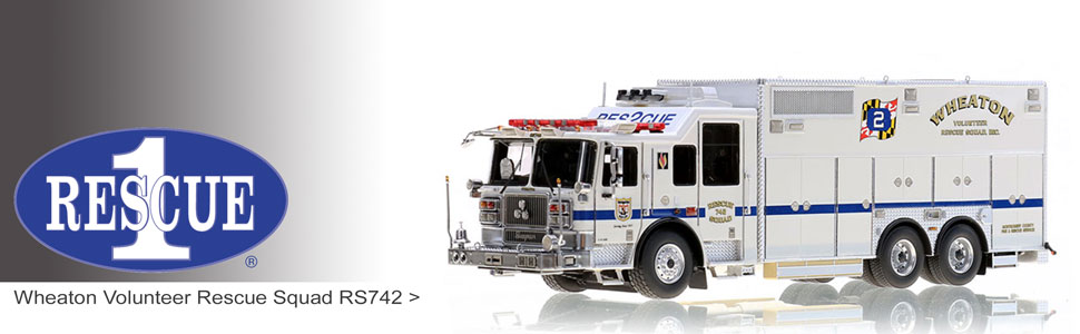 Shop Rescue 1 scale models including Wheaton RS742