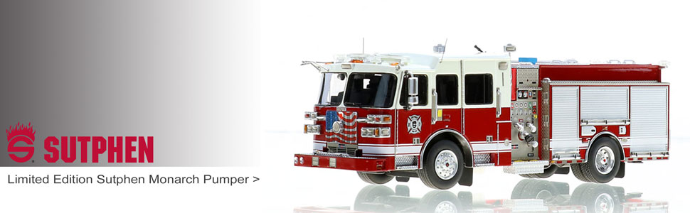 Sutphen scale model fire trucks