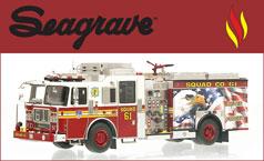 Shop Seagrave scale model fire trucks