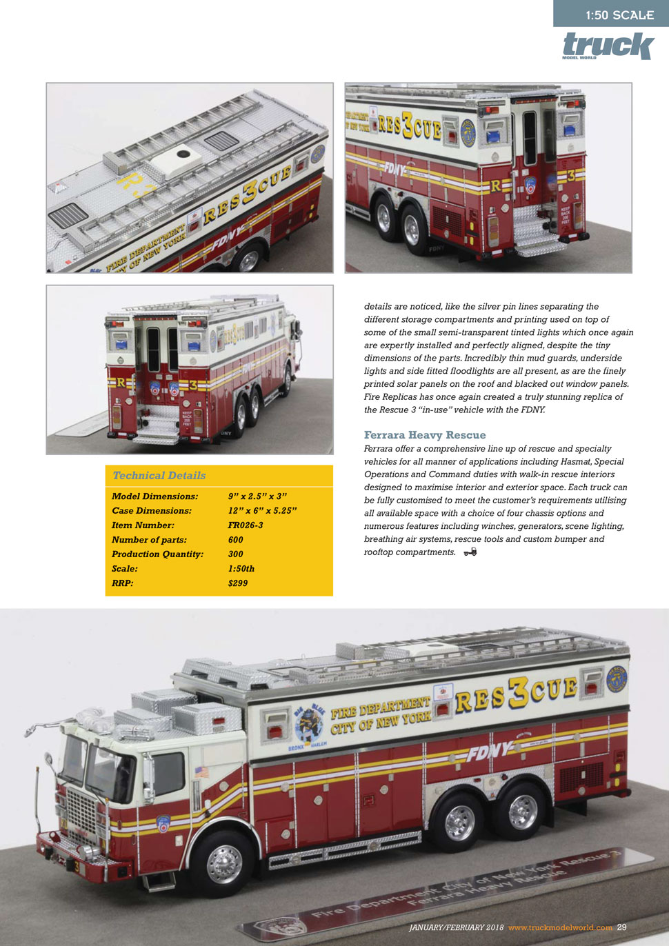 FDNY's Rescue 3 receives International magazine attention